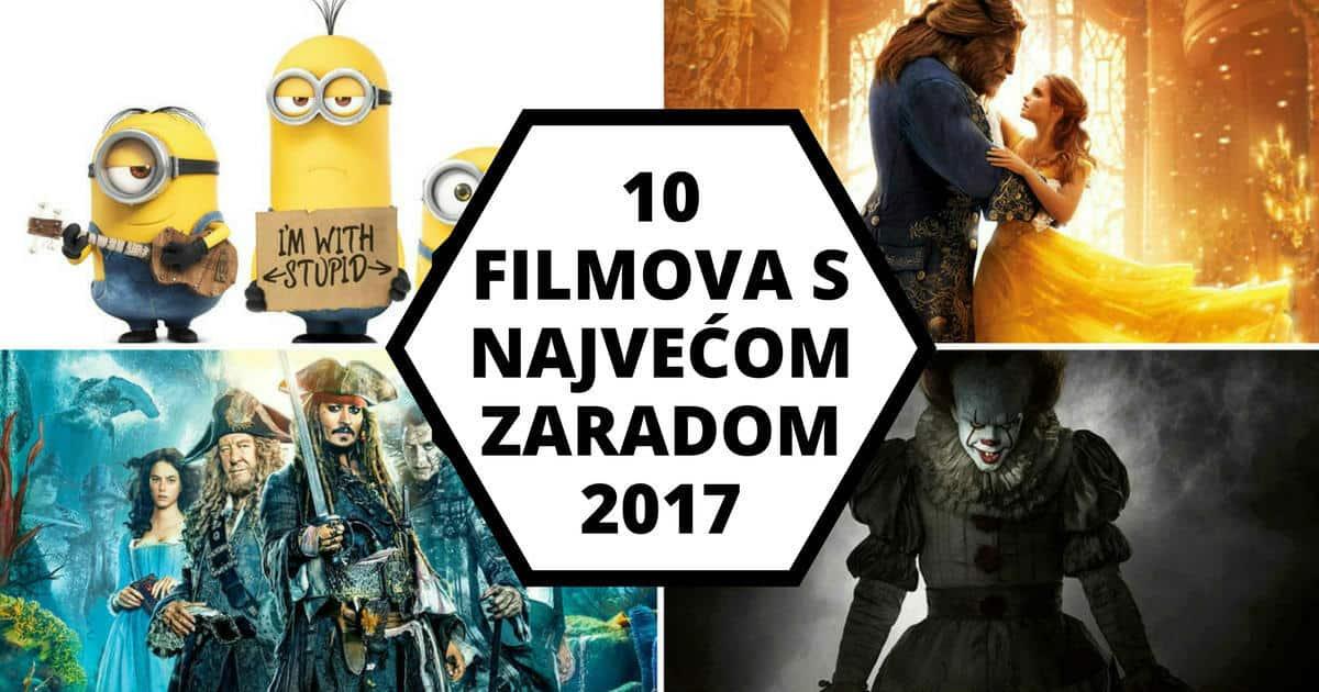 10 Filmova s najvećom zaradom 2017