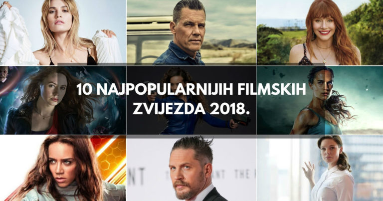 10 Najpopularnijih filmskih zvijezda 2018.