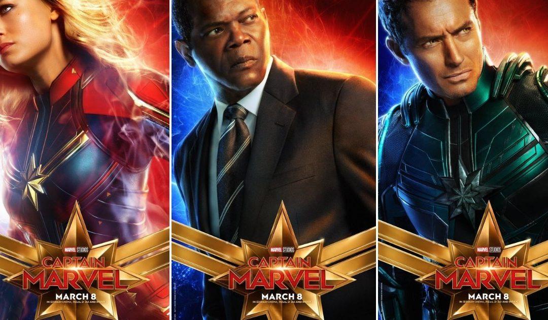 Posteri likova iz filma 'Captain Marvel'