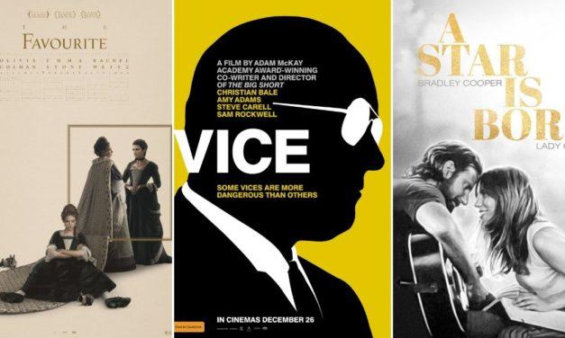 The Favourite s čak 10 nominacija, Vice i A Star is Born s po 8 nominacija u svim vodećim kategorijama