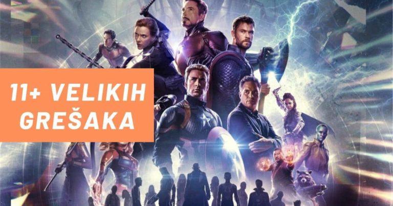 11+ Velikih Grešaka u Avengers: Endgame filmu