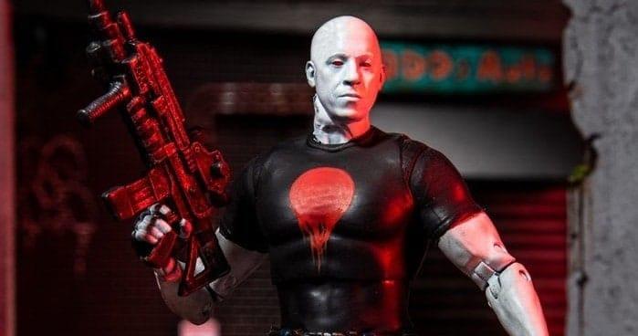 Ova akcijska figura prikazuje Vin Diesela u punom Bloodshot modu