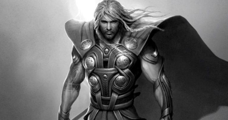 Thor konceptualna umjetnost otkriva jedan od najranijih Marvelovih izgleda za Boga groma