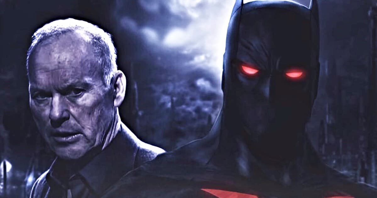 Michael Keaton zamišljen u Batman Beyond filmskom posteru od BossLogica