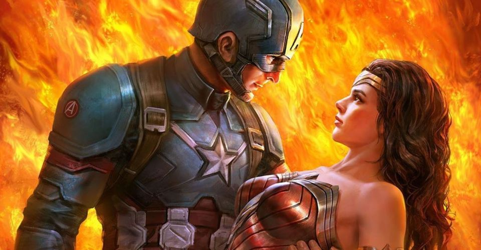 Captain America & Wonder Woman otplesali u odličnom fanovskom DC/Marvel posteru