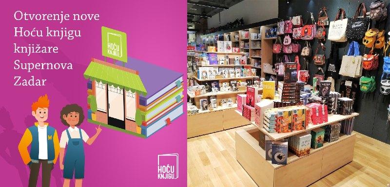 Omiljena knjižara Hoću knjigu dolazi u Zadar
