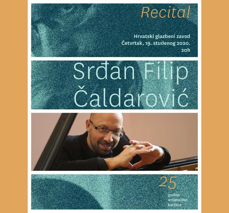 Pijanistički recital Srđana F. Čaldarovića u HGZ-u