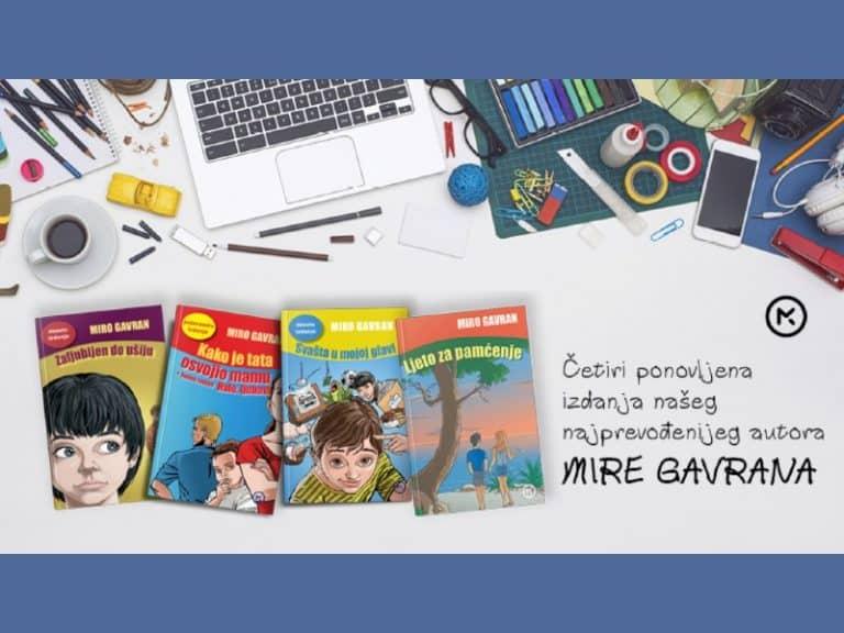 Četiri ponovljena izdanja našeg najprevođenijeg autora Mire Gavrana